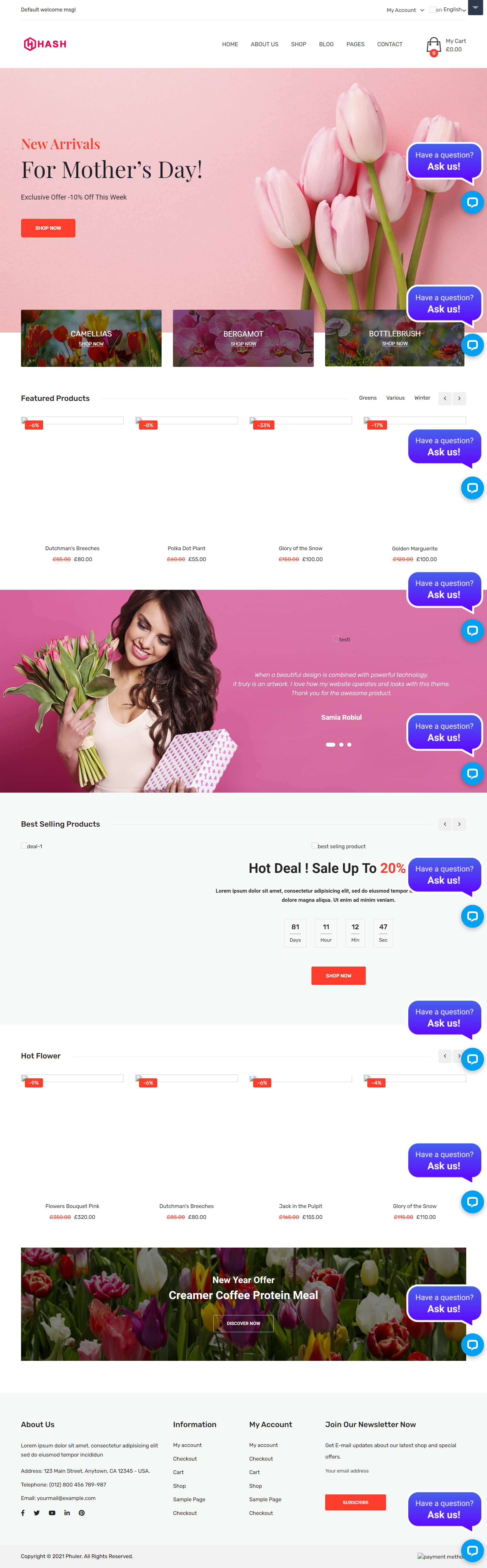Florists and Flower Shops Website Development Company in Allahabad