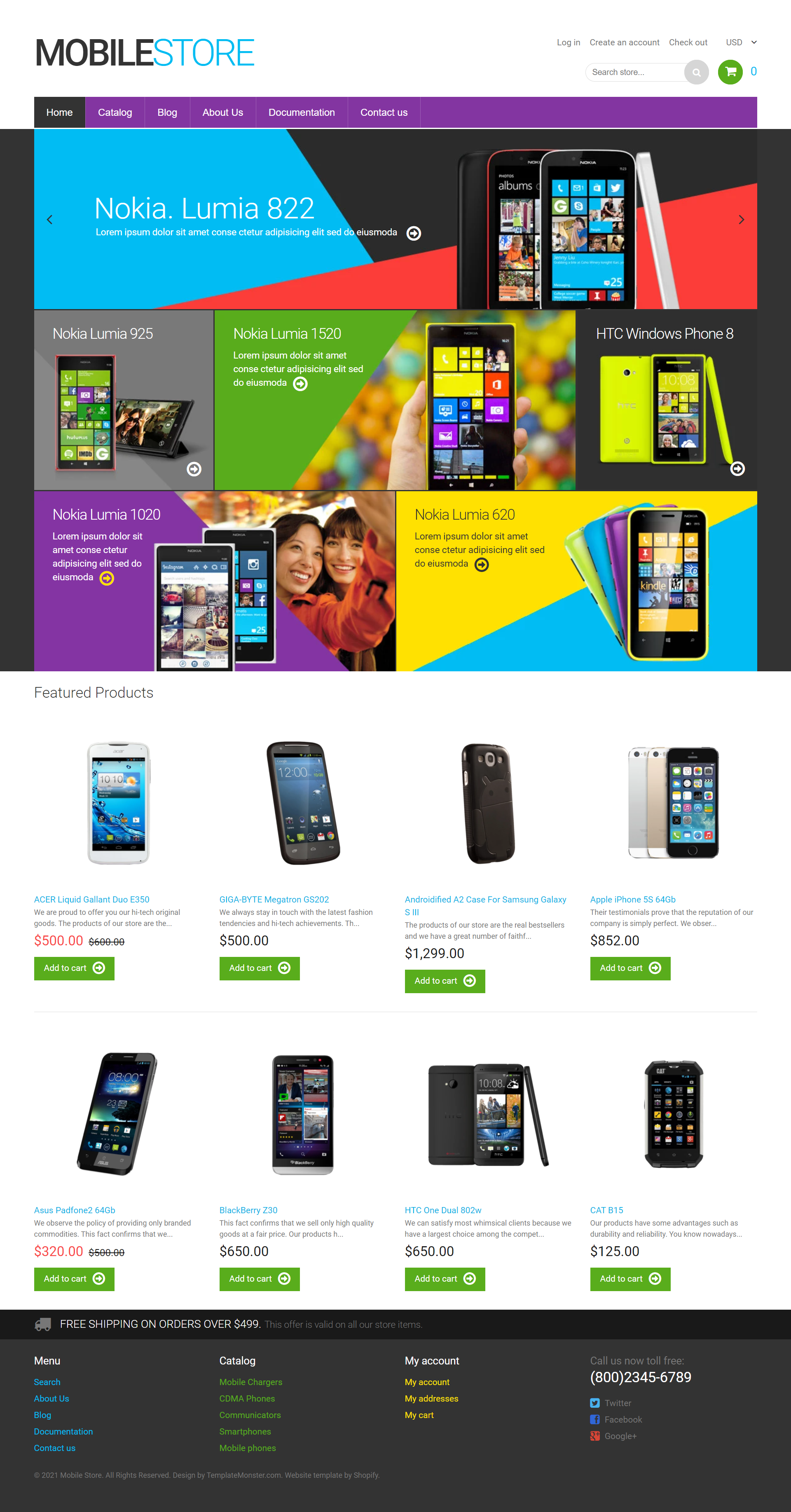 Mobile Shop Website Development Company in Allahabad