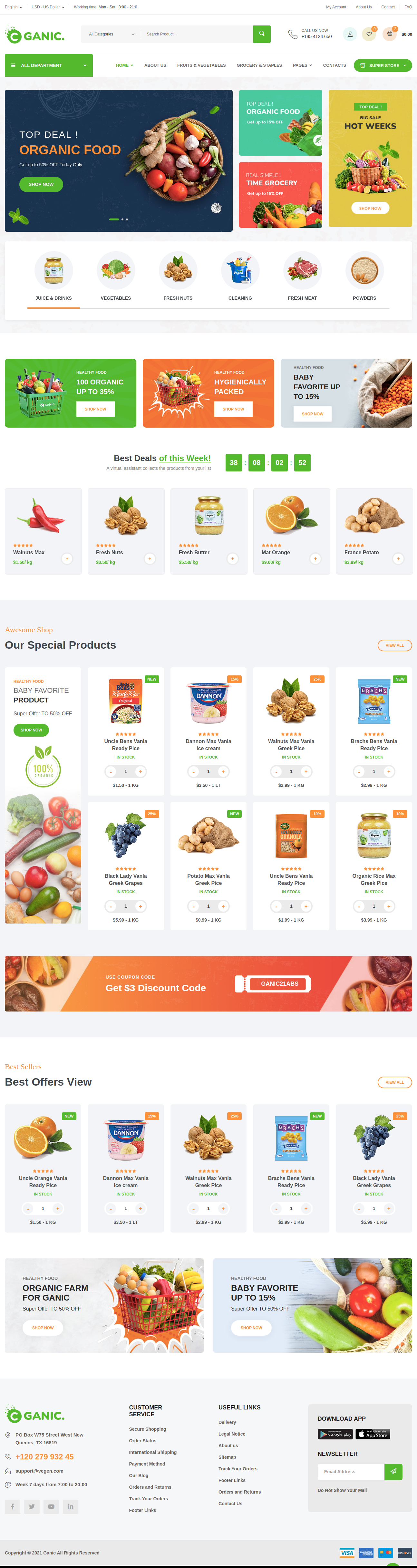 Grocery Shop Website Development Company in Allahabad