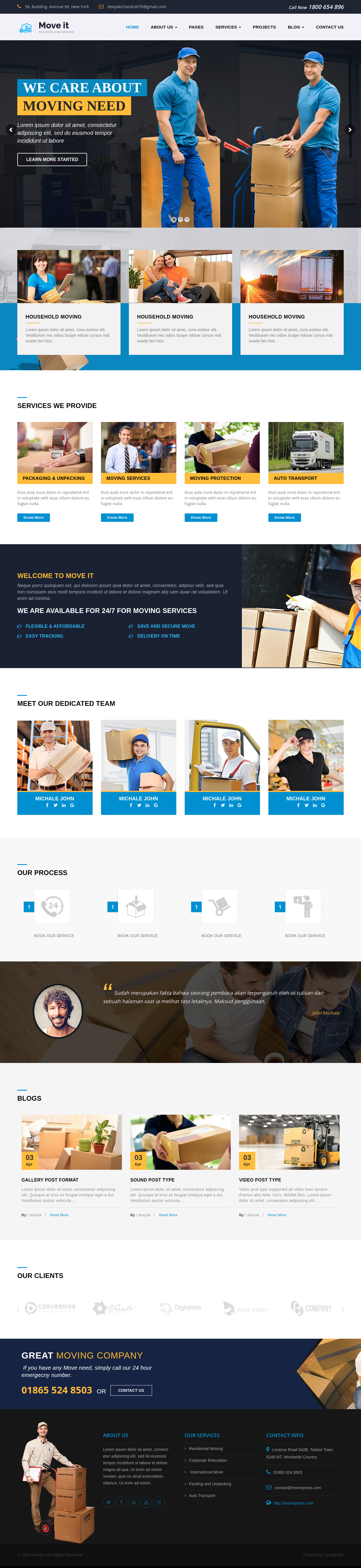 Packers & Movers Website Development Company in Allahabad